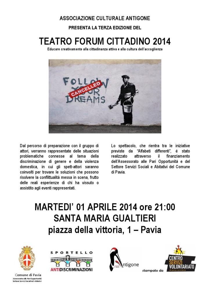 Locandina Spett Teatro Forum 2014