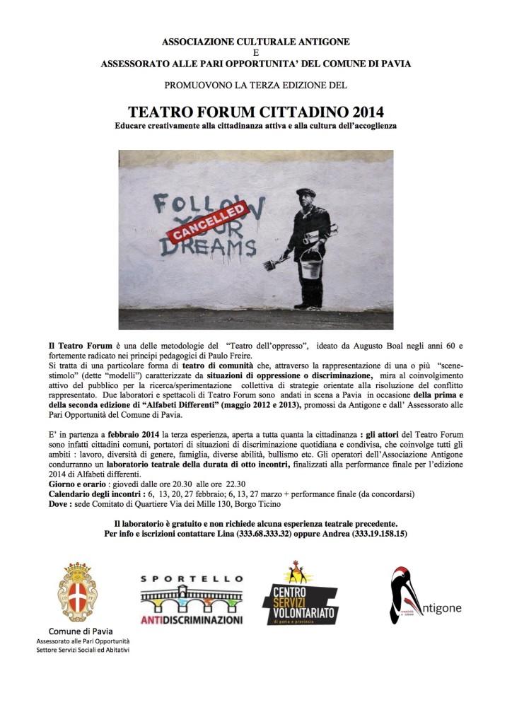 Locandina Teatro Forum 2014